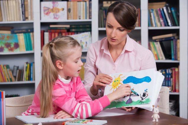 Ребенок на приеме у психолога