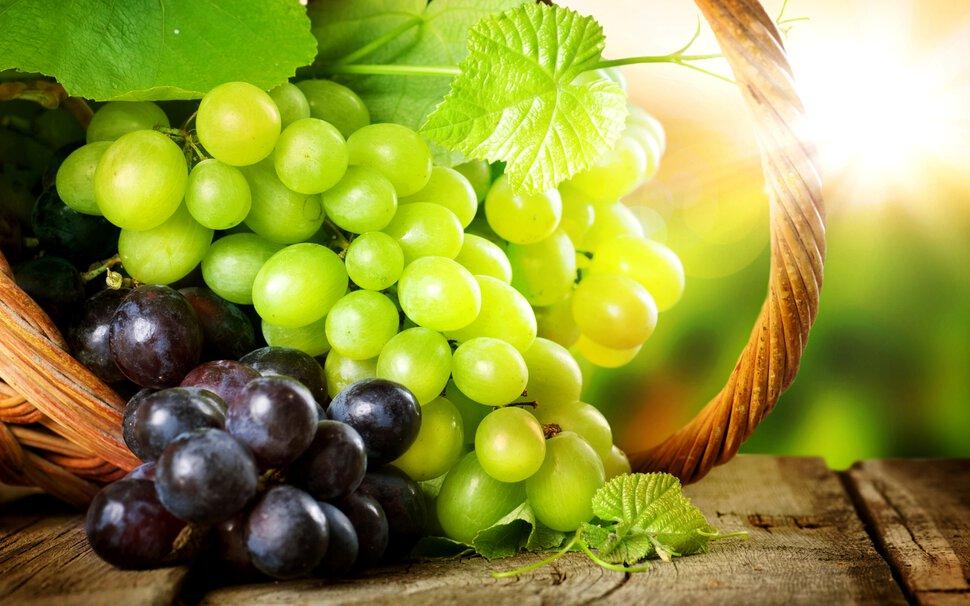 Рассыпать виноград