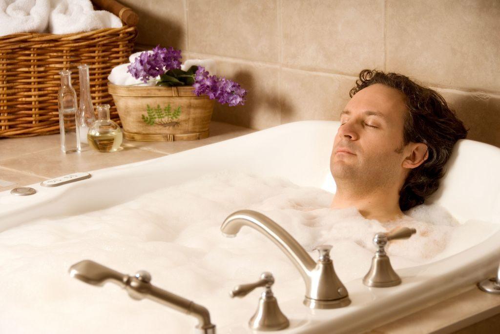 Принятие ванны перед сном