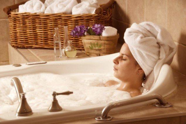 Расслабляющая ванна перед сном