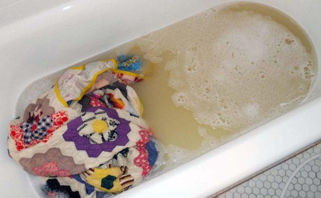 Стирка в ванне