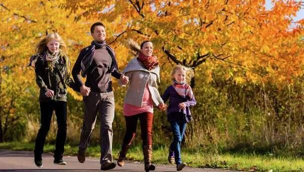 Активная семейная прогулка