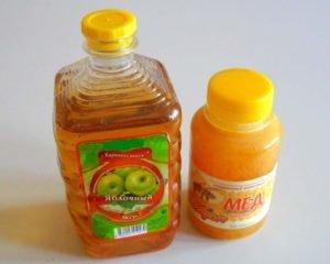 Мед и уксус яблочный