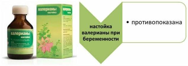 Настойка валерианЫ противопоказана при беременности