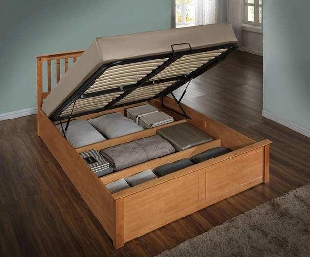 Кровать с ортопедической решеткой и подъемным механизмом