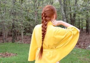 Коса заплетенная длинная