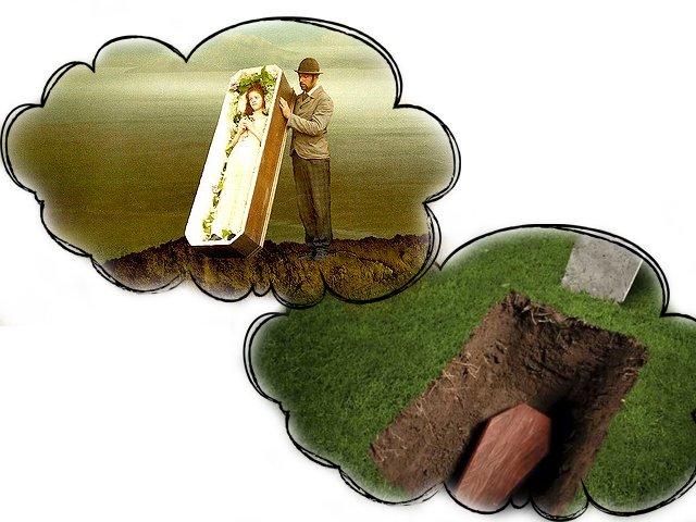 Гроб с ожившим покойником