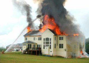 Пожар огонь белый дым